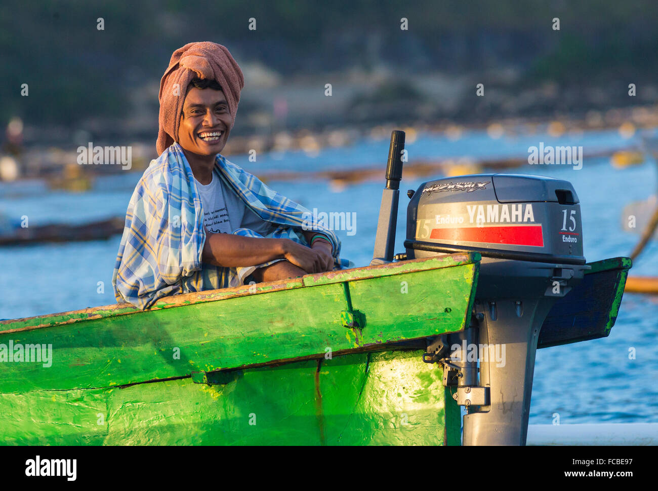 Portrait of young fisher.Lombok.Indonesia. - Stock Image