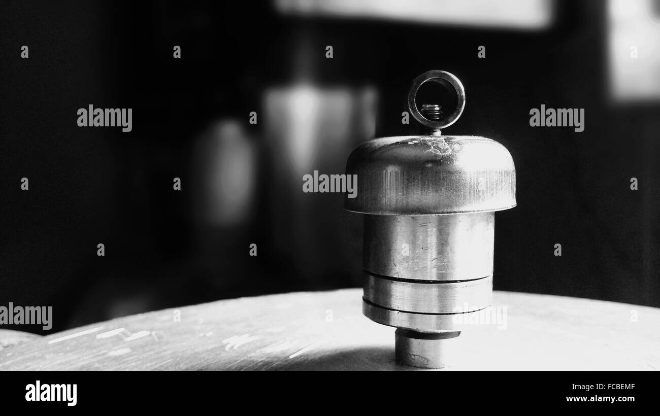 Cropped Image Of Pressure Cooker - Stock Image