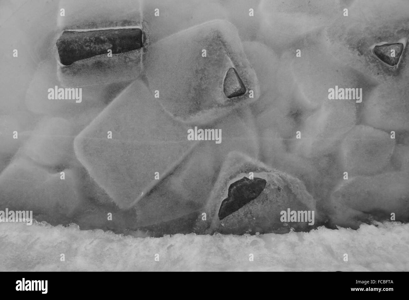 Close-Up Of Ice Cubes - Stock Image