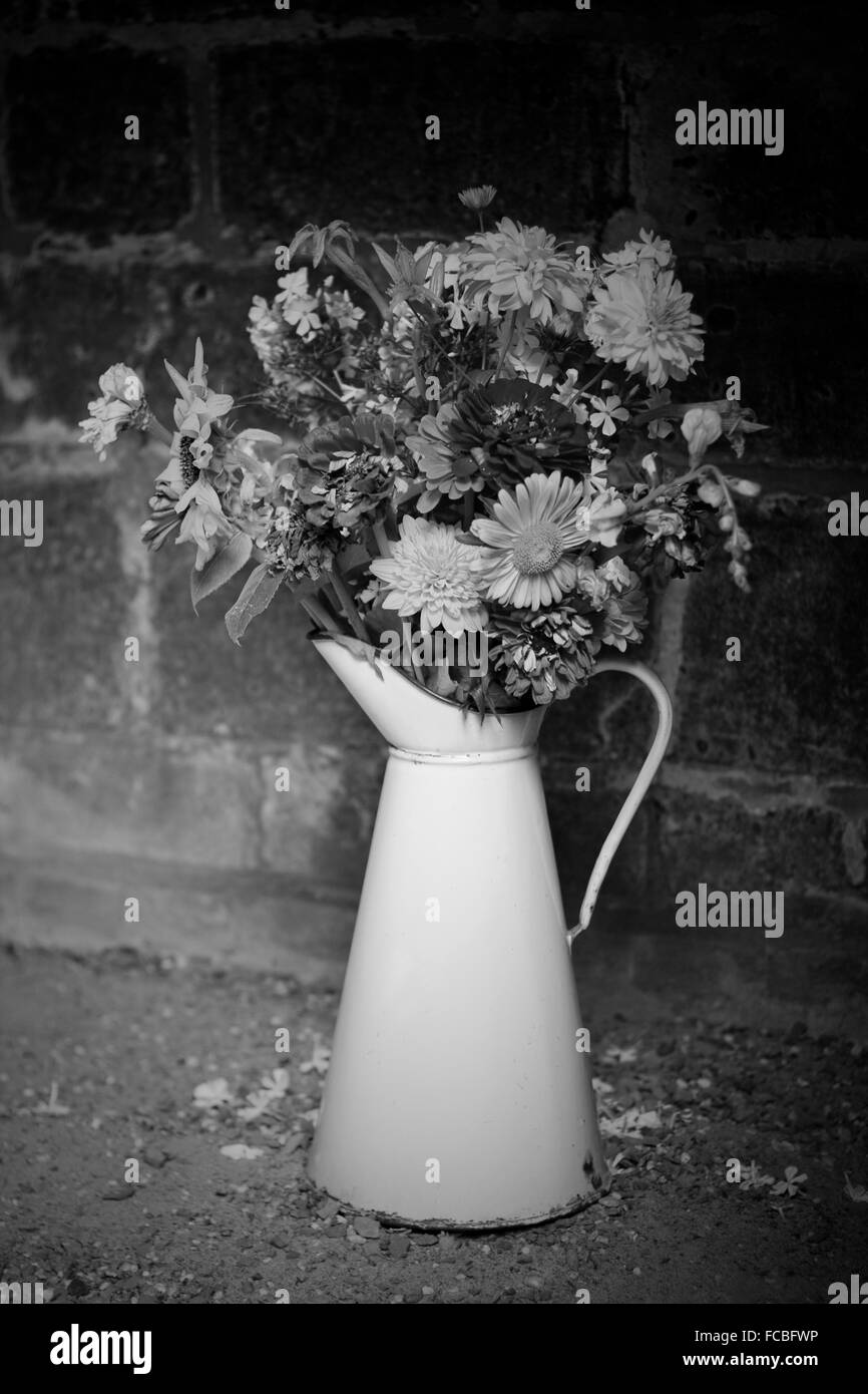 Flower vase black and white stock photos images alamy flowers in vase stock image mightylinksfo