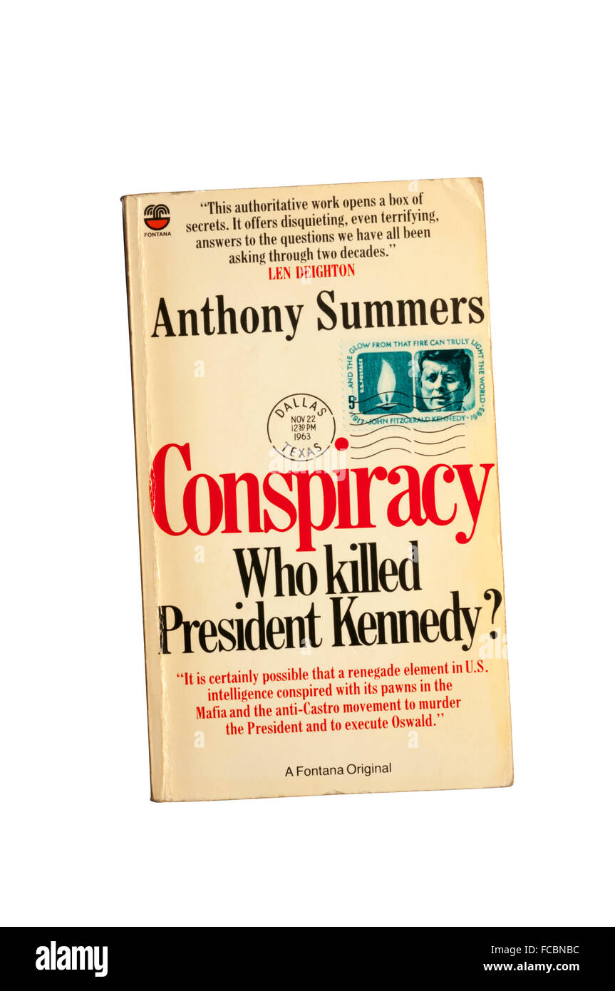 A paperback copy of Conspiracy - Who Killed President Kennedy? by Anthony Summers. - Stock Image