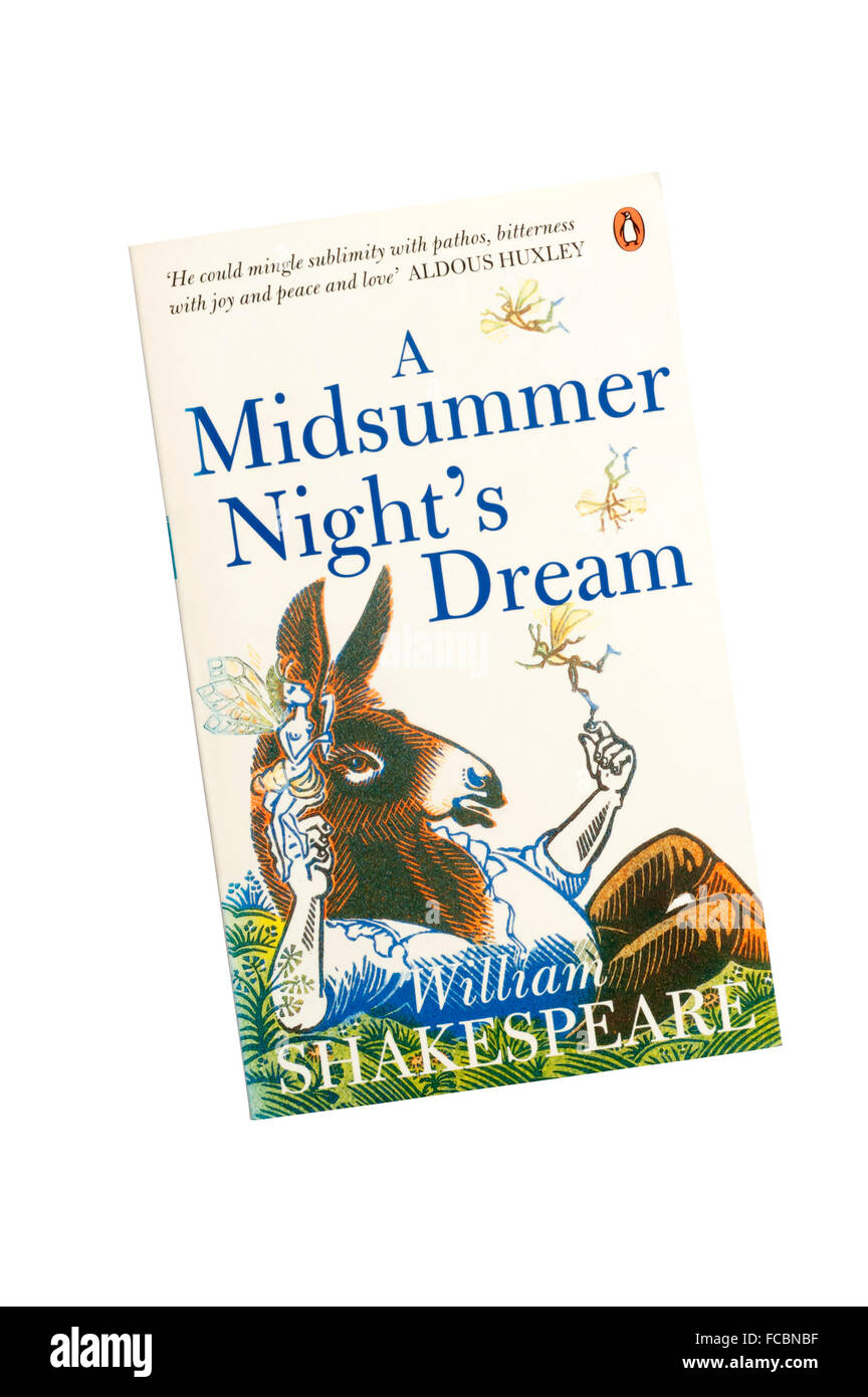 The Penguin edition of A Midsummer Night's Dream by William Shakespeare. - Stock Image