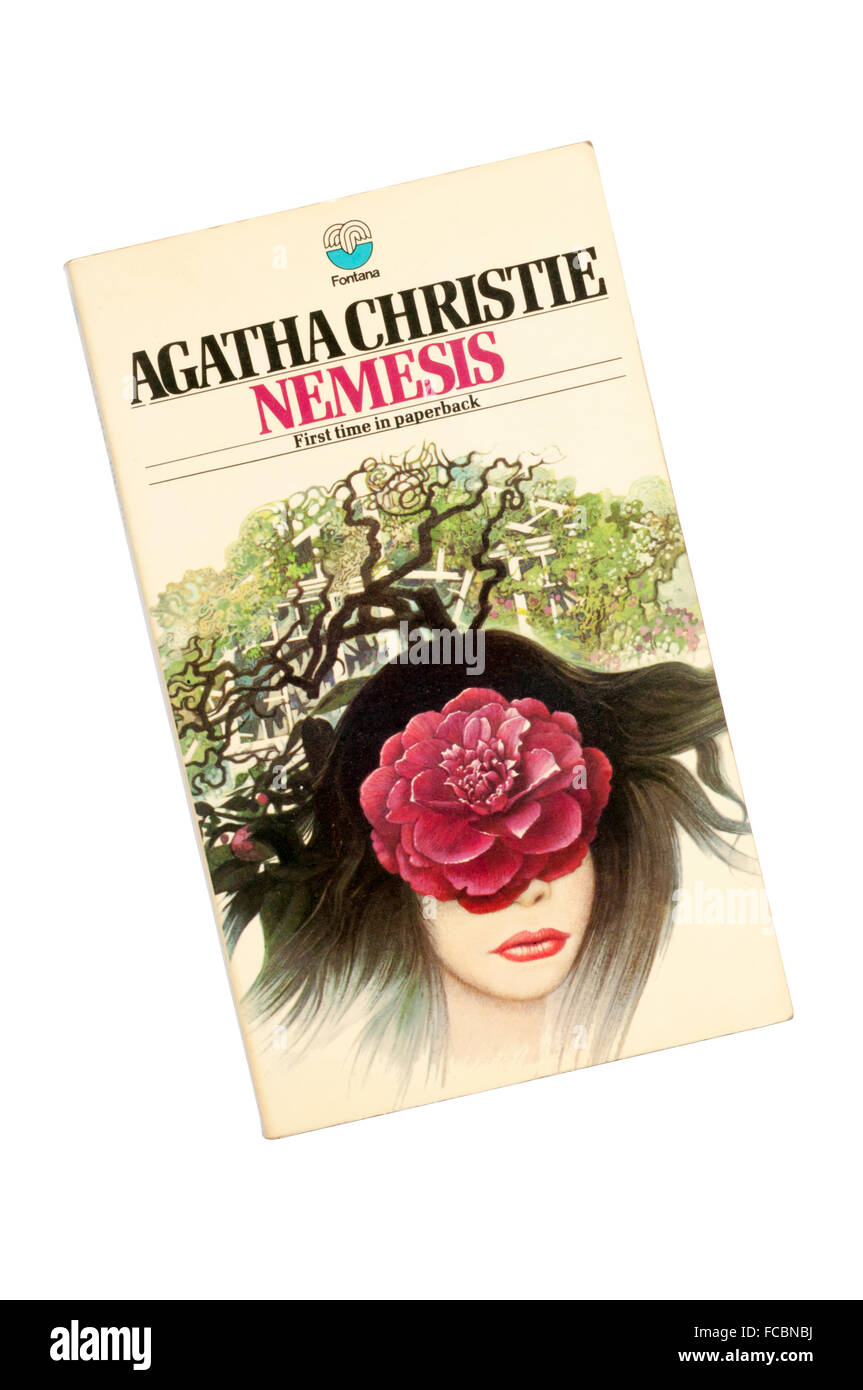 Collins paperback edition of Nemesis by Agatha Christie.  The last Miss Marple written.  First published in 1971. - Stock Image