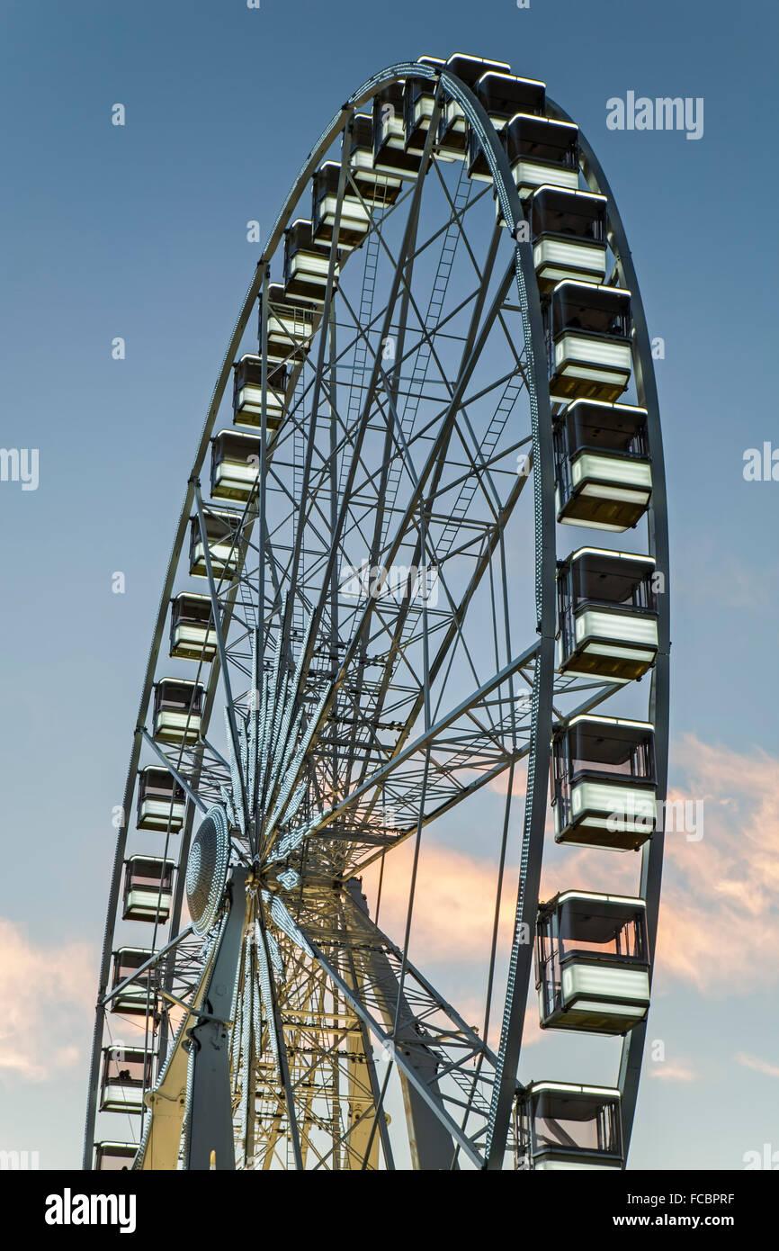 Ferris wheel, Tuileries Garden, Paris, France Stock Photo
