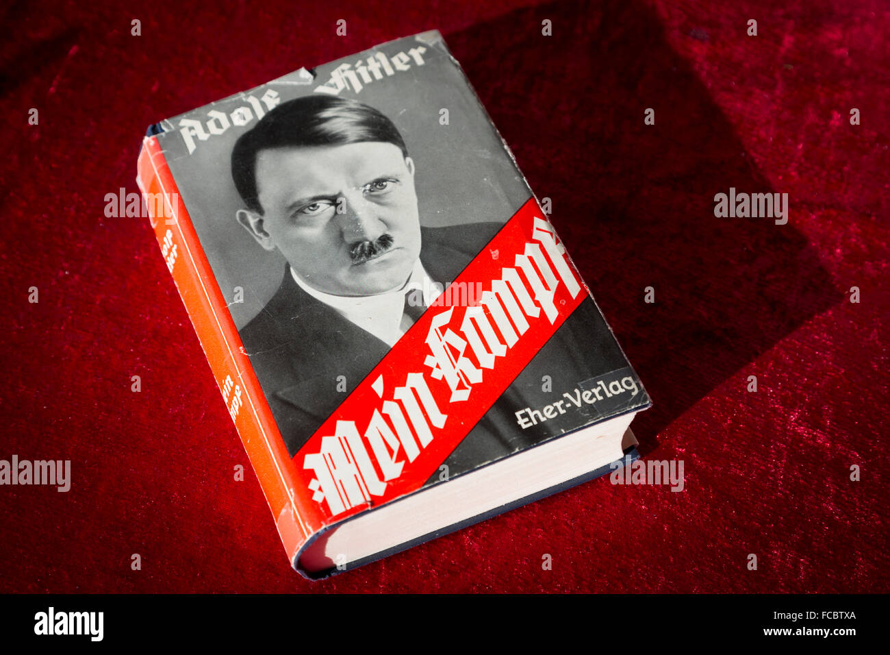 Book cover Mein Kampf. - Stock Image