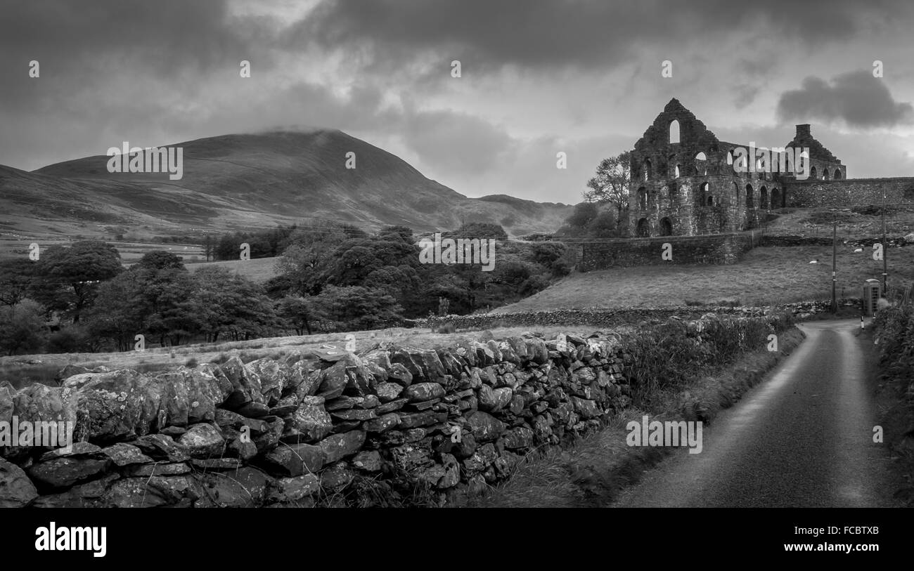 the old slate mill at pandy,north wales - Stock Image