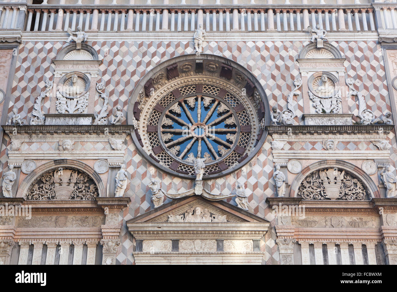 Cappella Colleoni designed by Italian Renaissance architect Giovanni Antonio Amadeo in Bergamo, Lombardy, Italy. - Stock Image