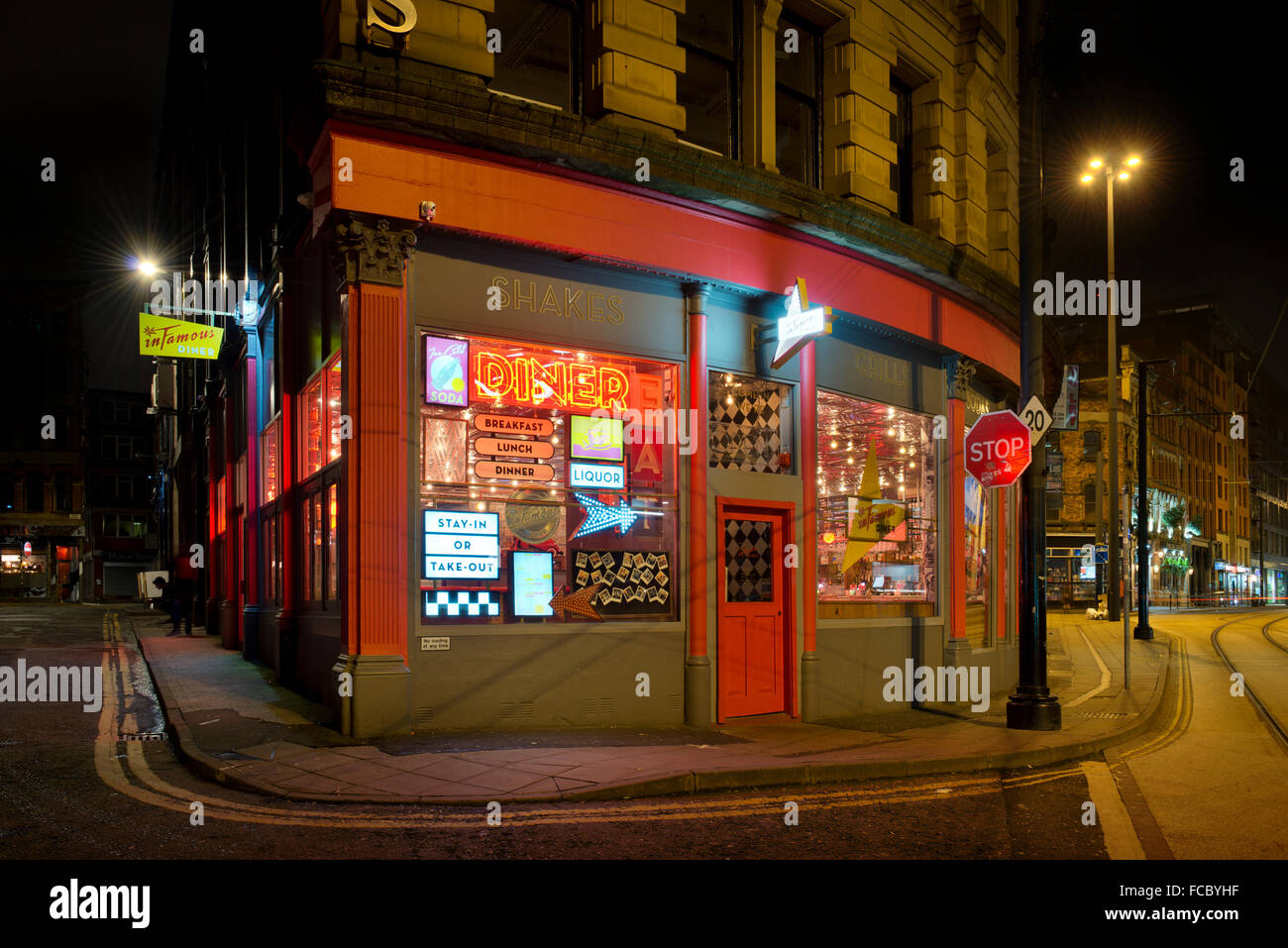 The Infamous retro American themed restaurant located on High Street in Manchester City Centre. - Stock Image