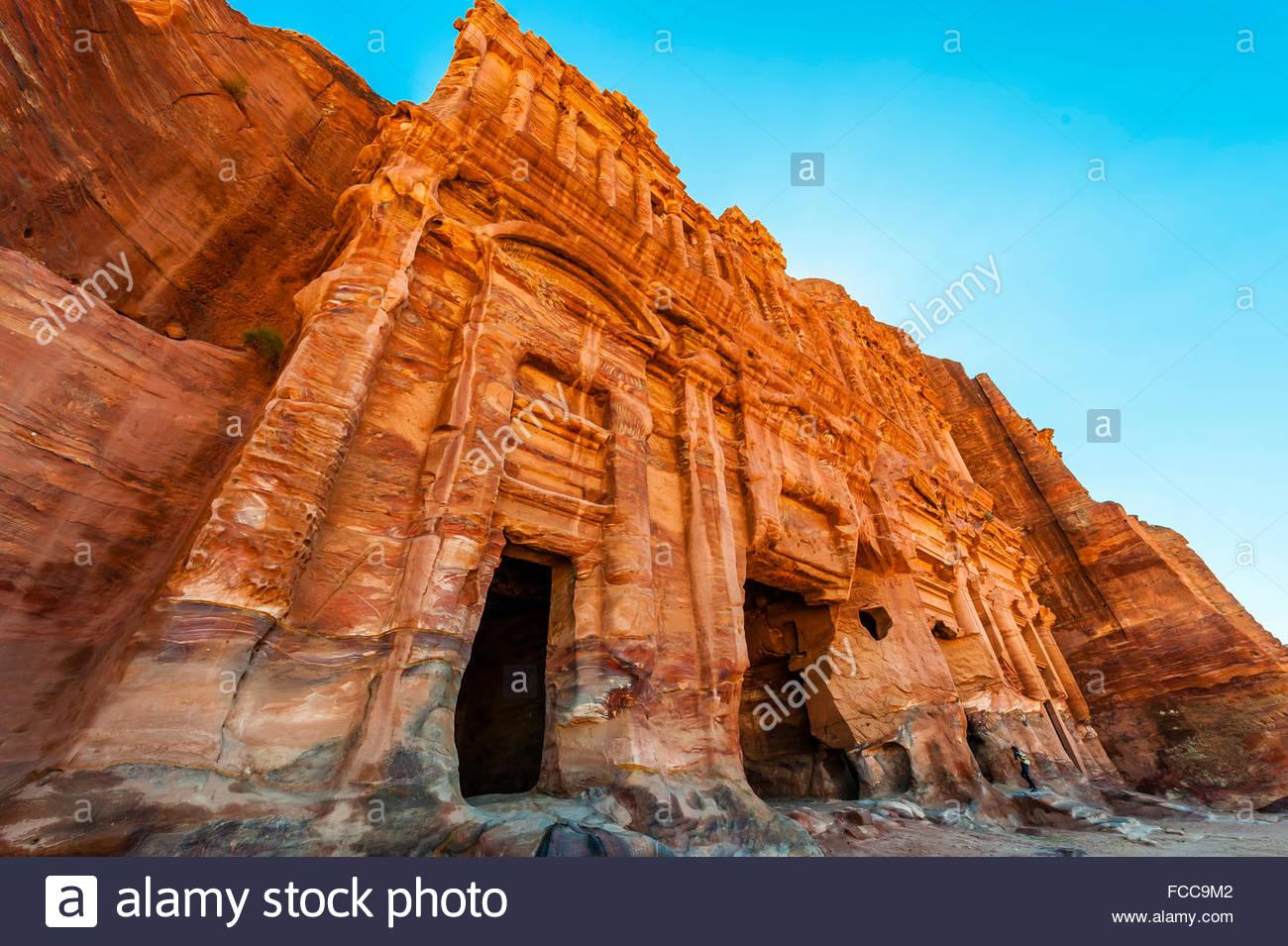 Palace Tomb (the Royal Tombs), Petra Archaeological Park (a UNESCO World Heritage Site), Petra, Jordan. - Stock Image