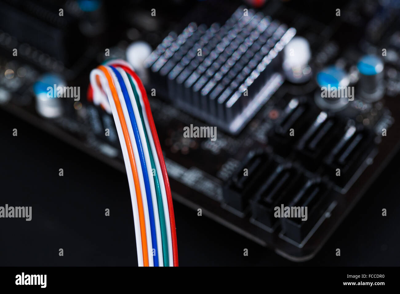 Ethernet and wiring for computers and mainframes. - Stock Image