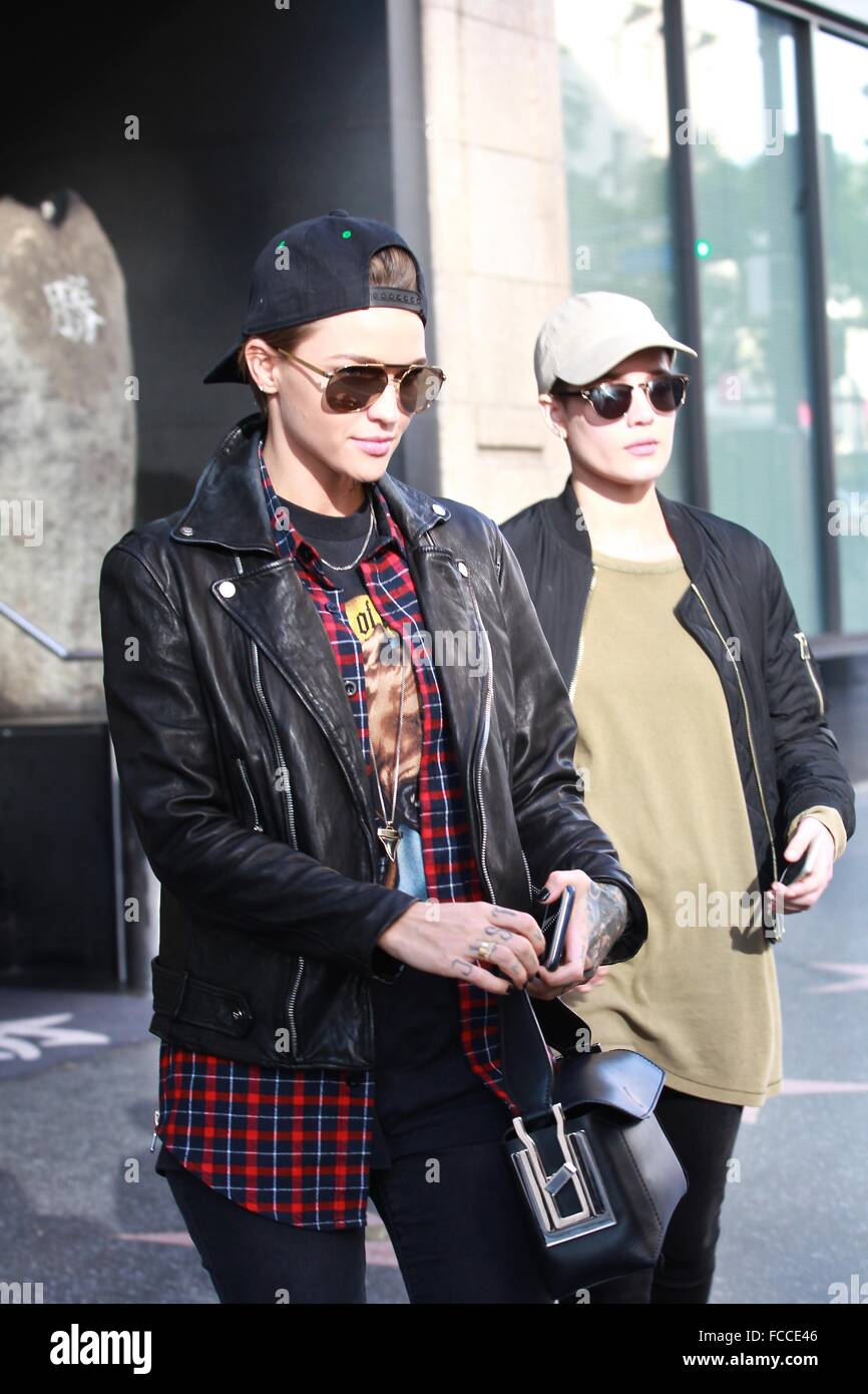 Ruby Rose Was Spotted Out With A New Girlfriend At Katsuya Sushi In Stock Photo Alamy