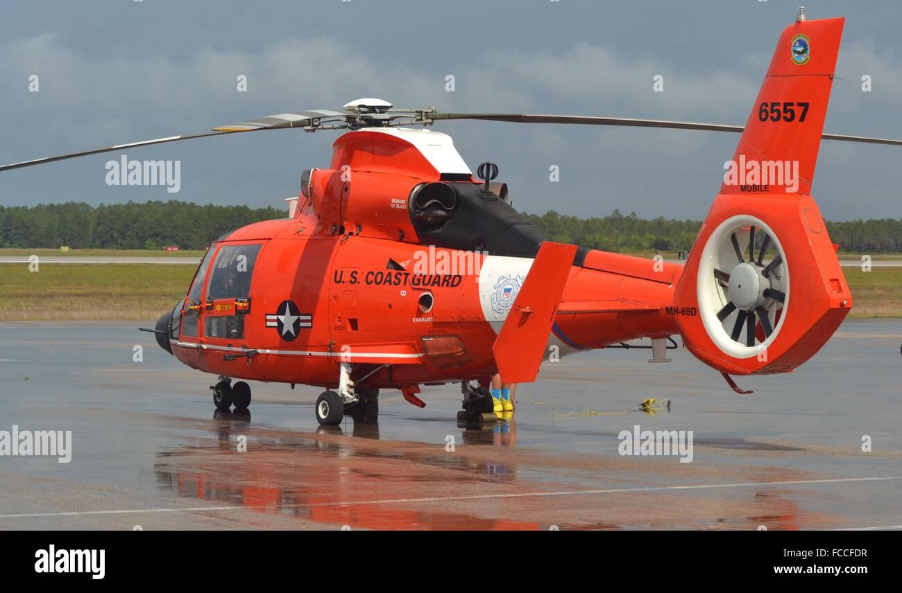 A U.S. Coast Guard HH-65 Dolph...