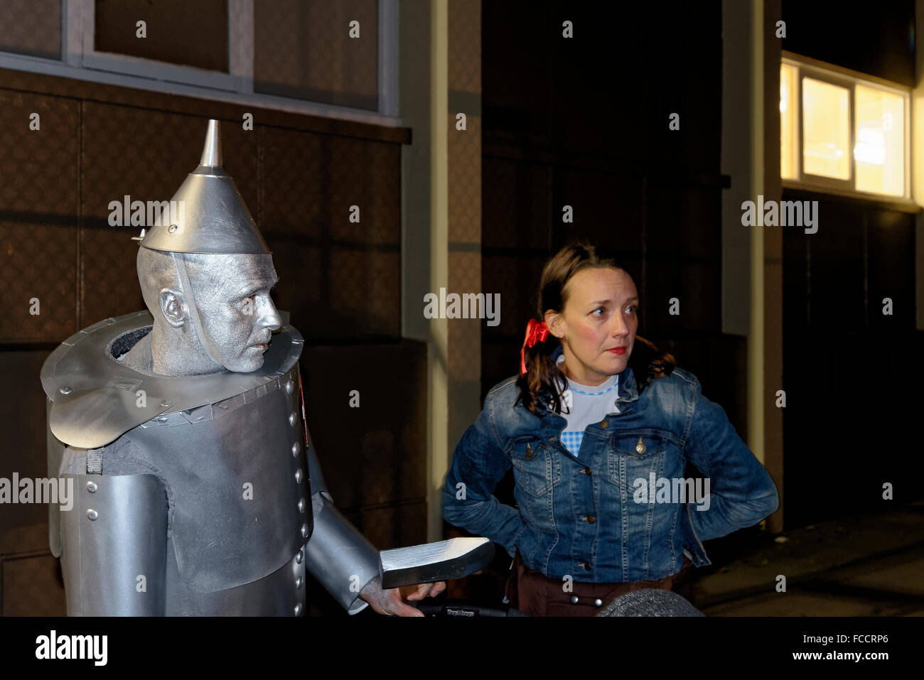 Dorothy and the Tin Man. Parade of Lost Souls Festival 2014, Commercial Drive neighbourhood, Vancouver, British - Stock Image
