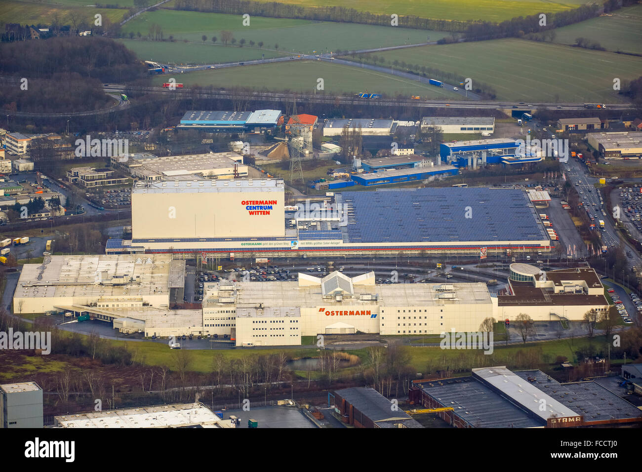 Aerial View Furniture Discounter Ostermann With The Largest Solar