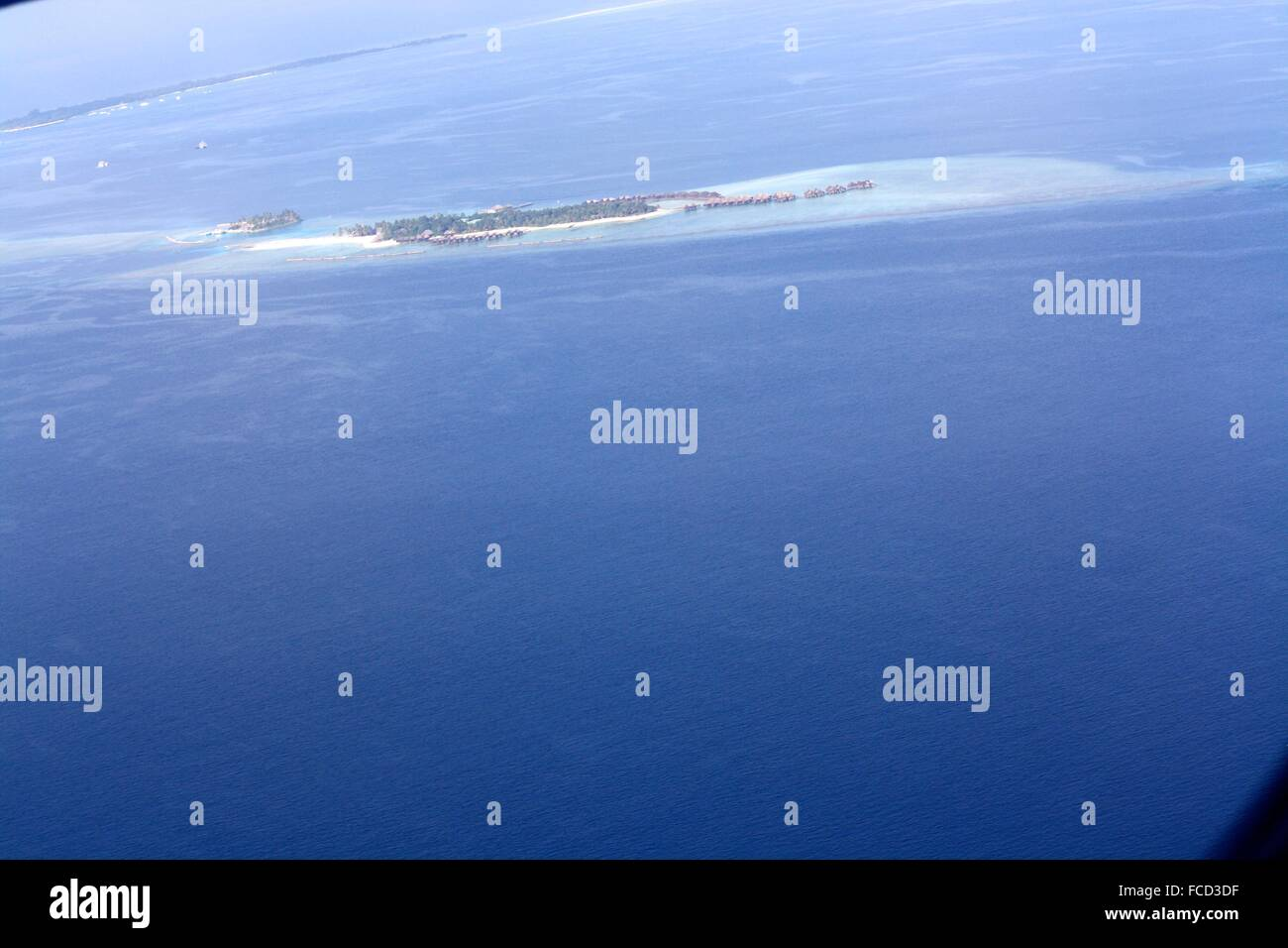 Panoramic View From The Airplane Window - Stock Image