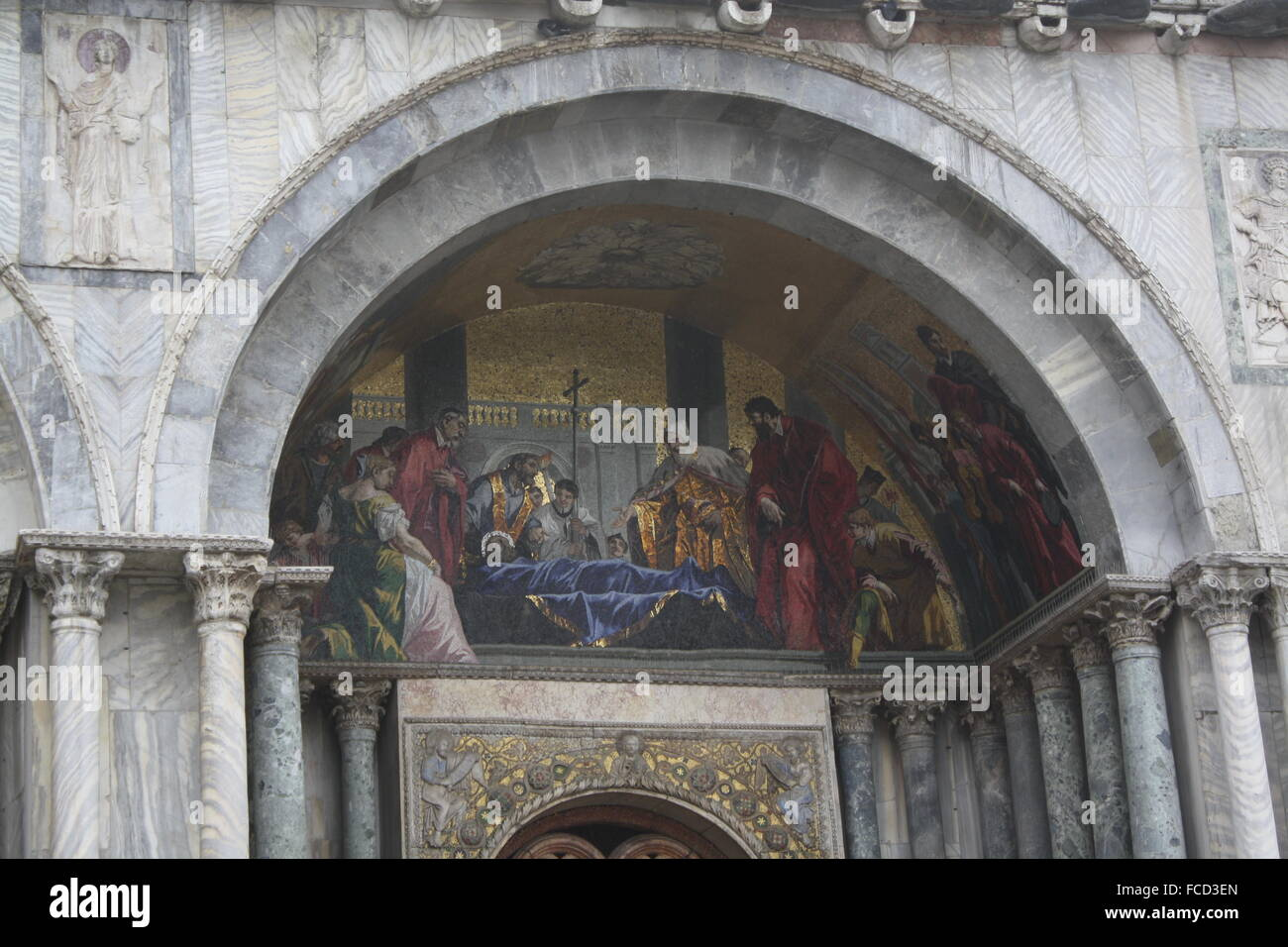Painted Cope Above The Entrance - Stock Image