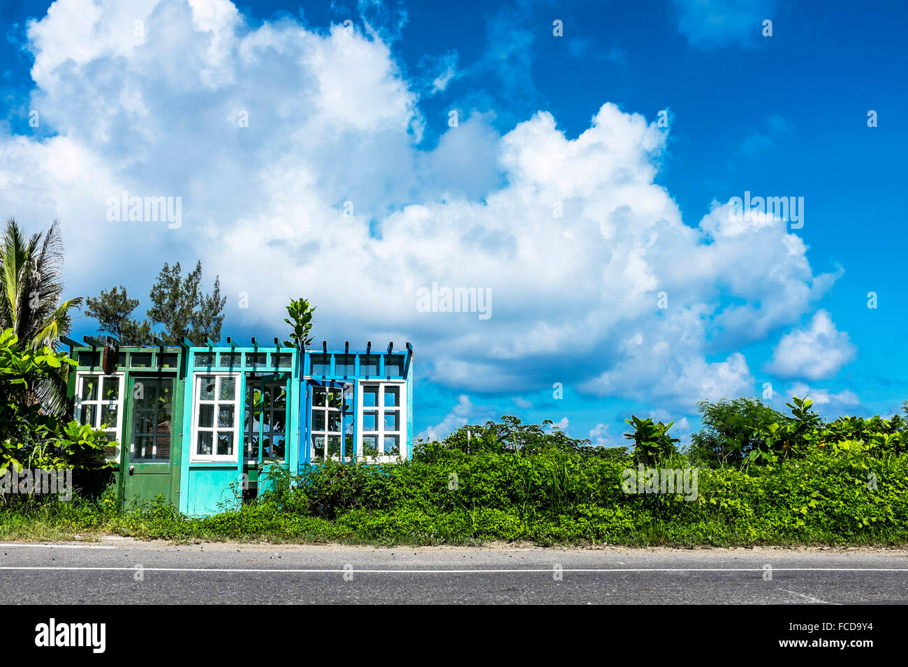 Built Structure Next To Road - Stock Image