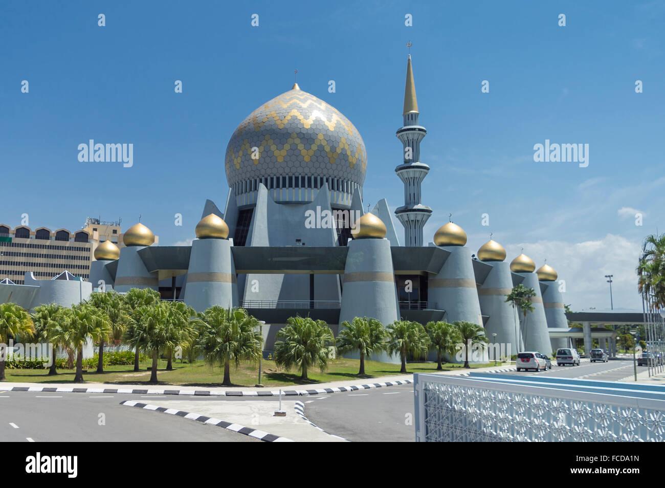 Masjid Negeri Sabah, the state mosque of Sabah, in Kota Kinabalu, Malaysia. - Stock Image