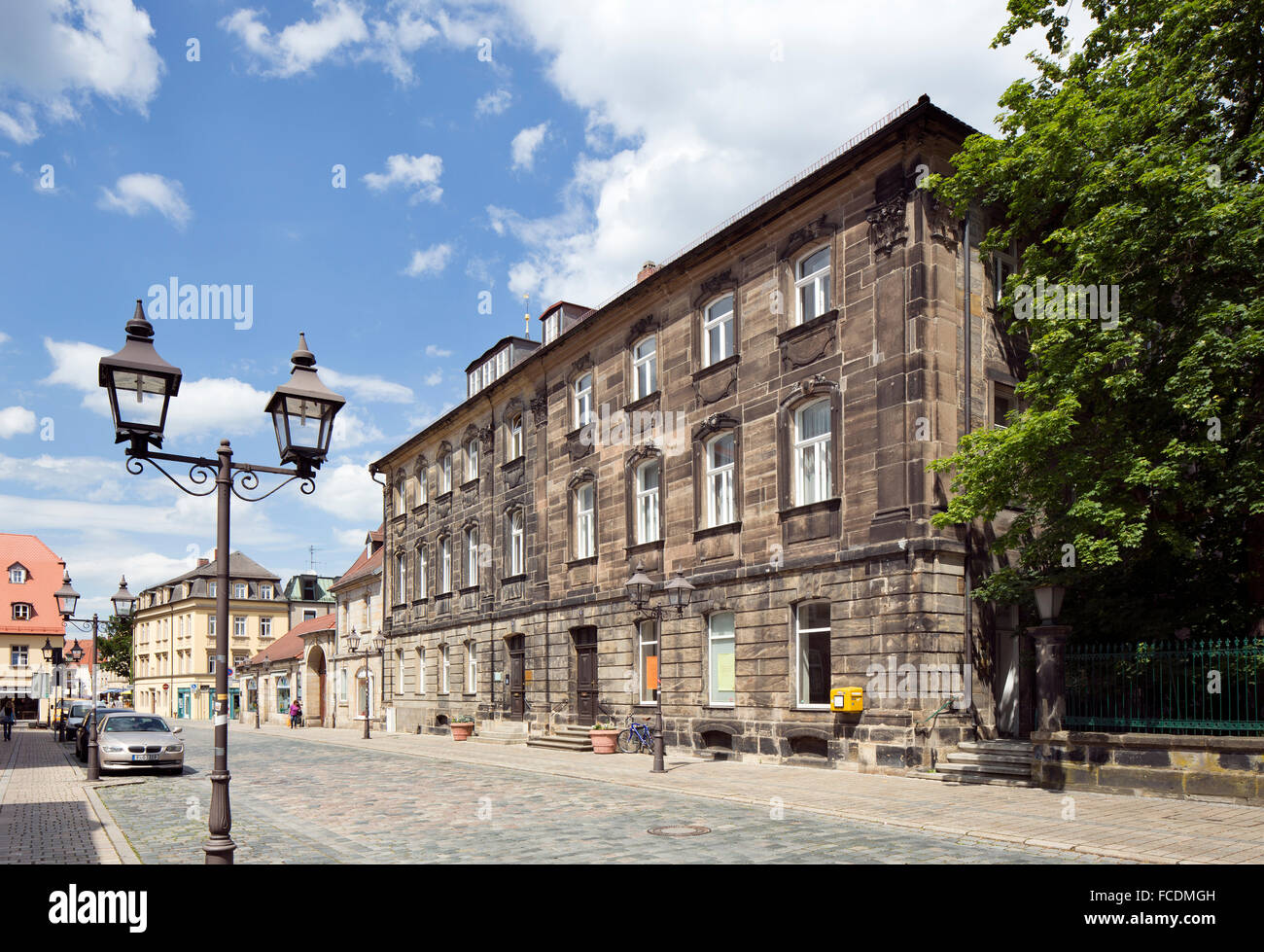 Last residence of writer Jean Paul, Friedrichstrasse, Bayreuth, Upper Franconia, Bavaria, Germany - Stock Image