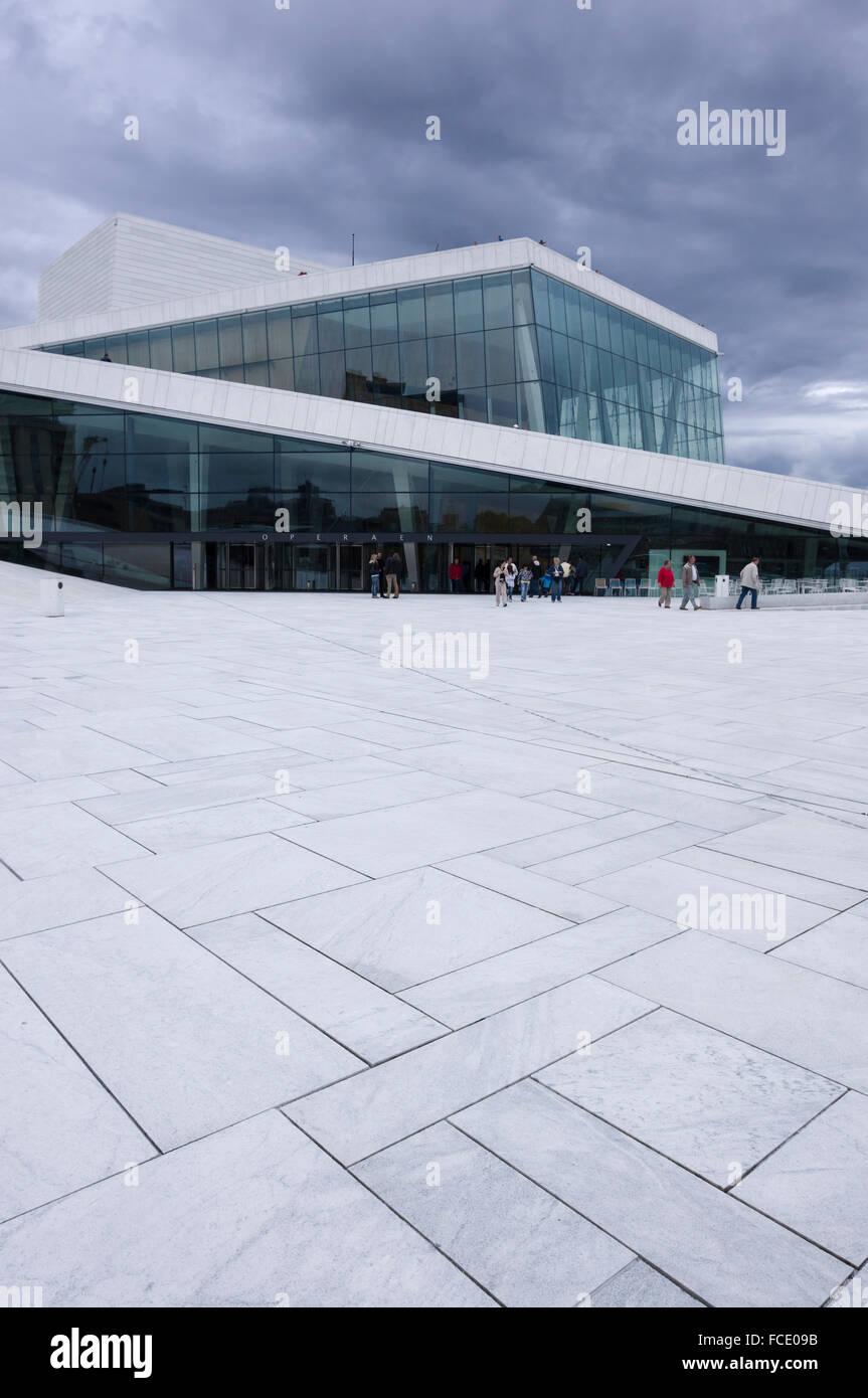 The Oslo Opera House, Oslo, Norway - Stock Image