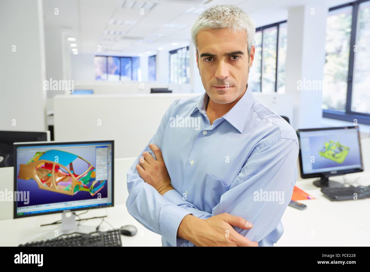 Industrial Engineer. Advanced Simulation of lightweight structures for the transport industry. Basque Country. Spain. - Stock Image
