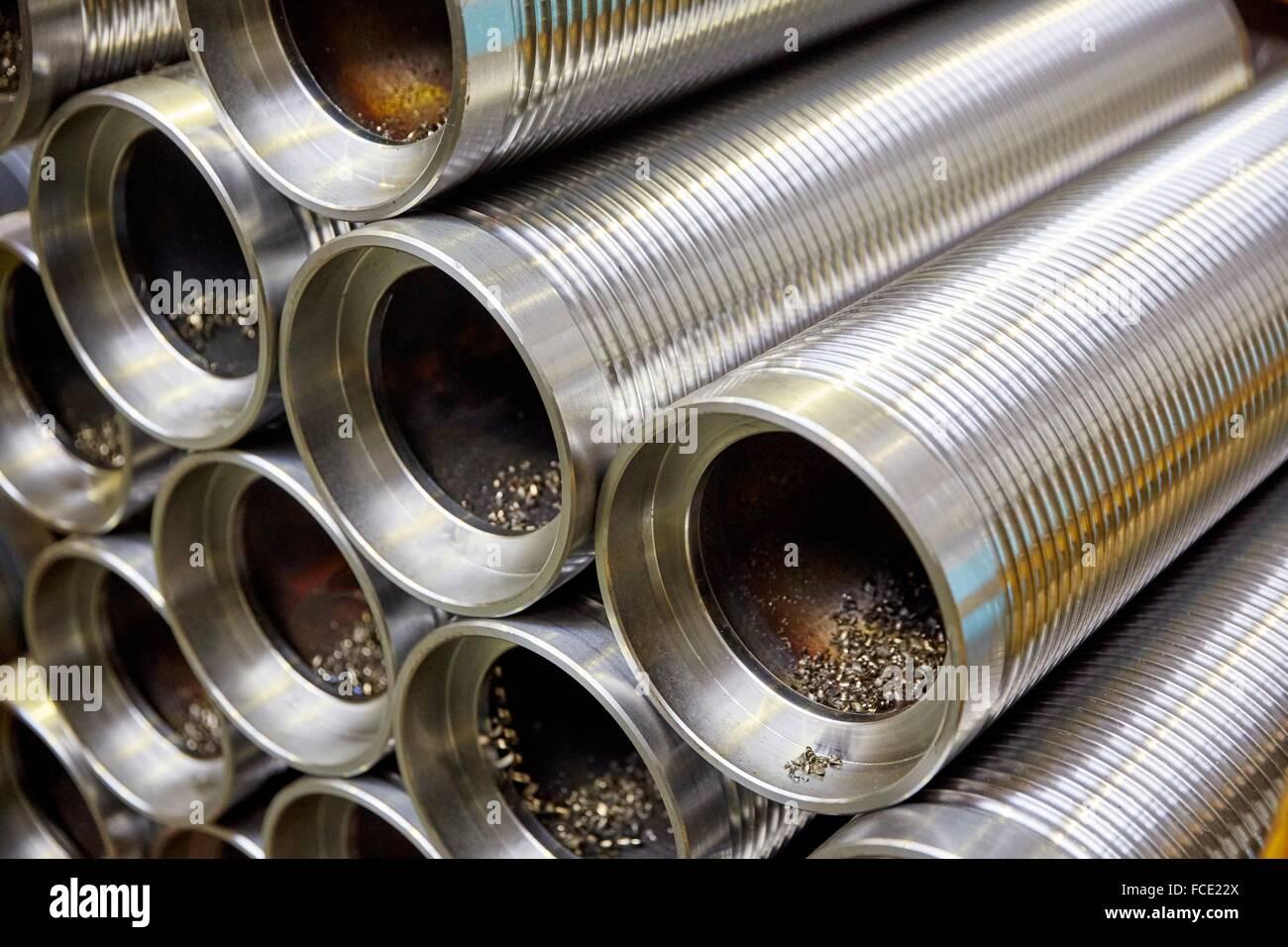 Metallic axis. Industry. Gipuzkoa. Basque Country. Spain. - Stock Image