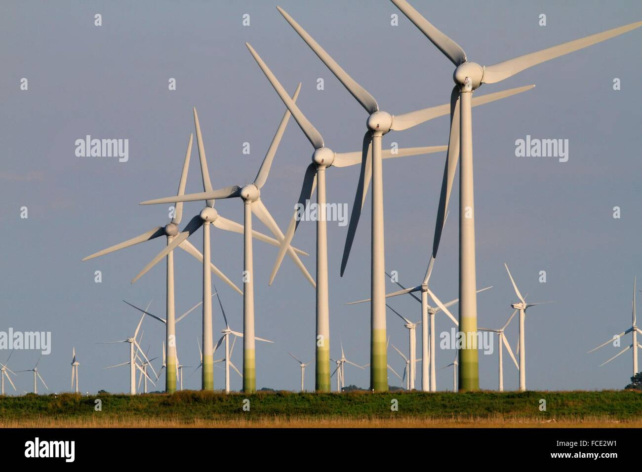 Germany, power wind mill - Stock Image