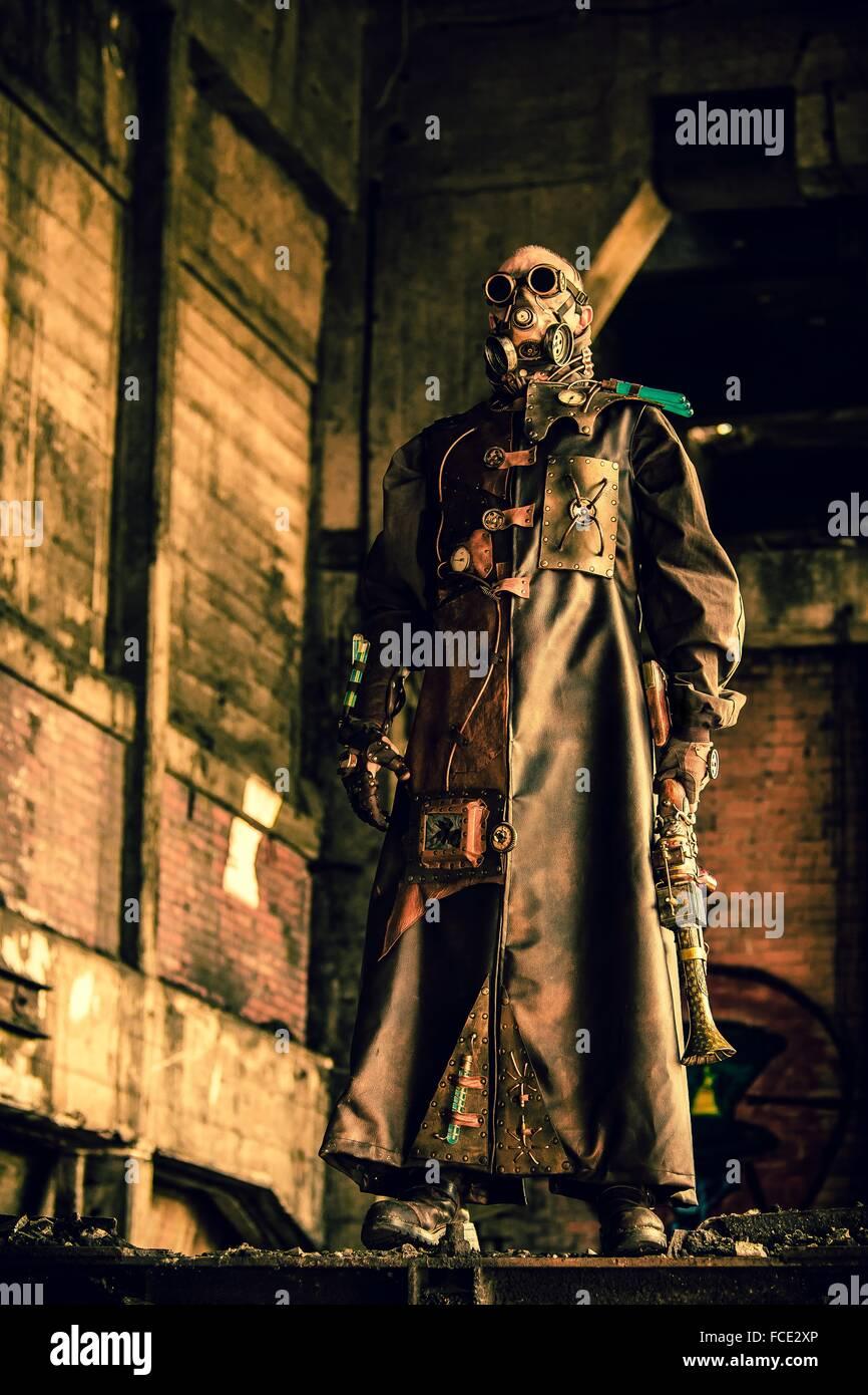 Steampunk man - Stock Image