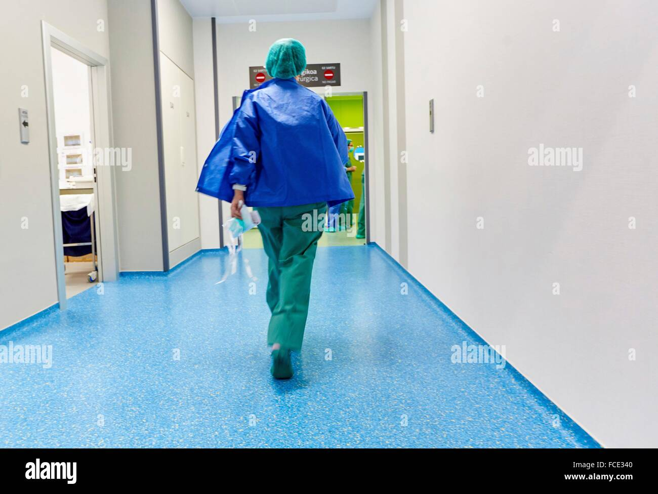 Ambulatory Surgery, Operating Theatre, Hospital Donostia, San Sebastian, Gipuzkoa, Basque Country, Spain - Stock Image