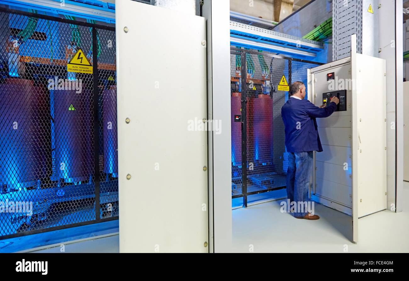 Maintenance Worker Trafo Electrical Transformers Wiring Hospital Together Donostia San Sebastian Gipuzkoa Basque Country Spain