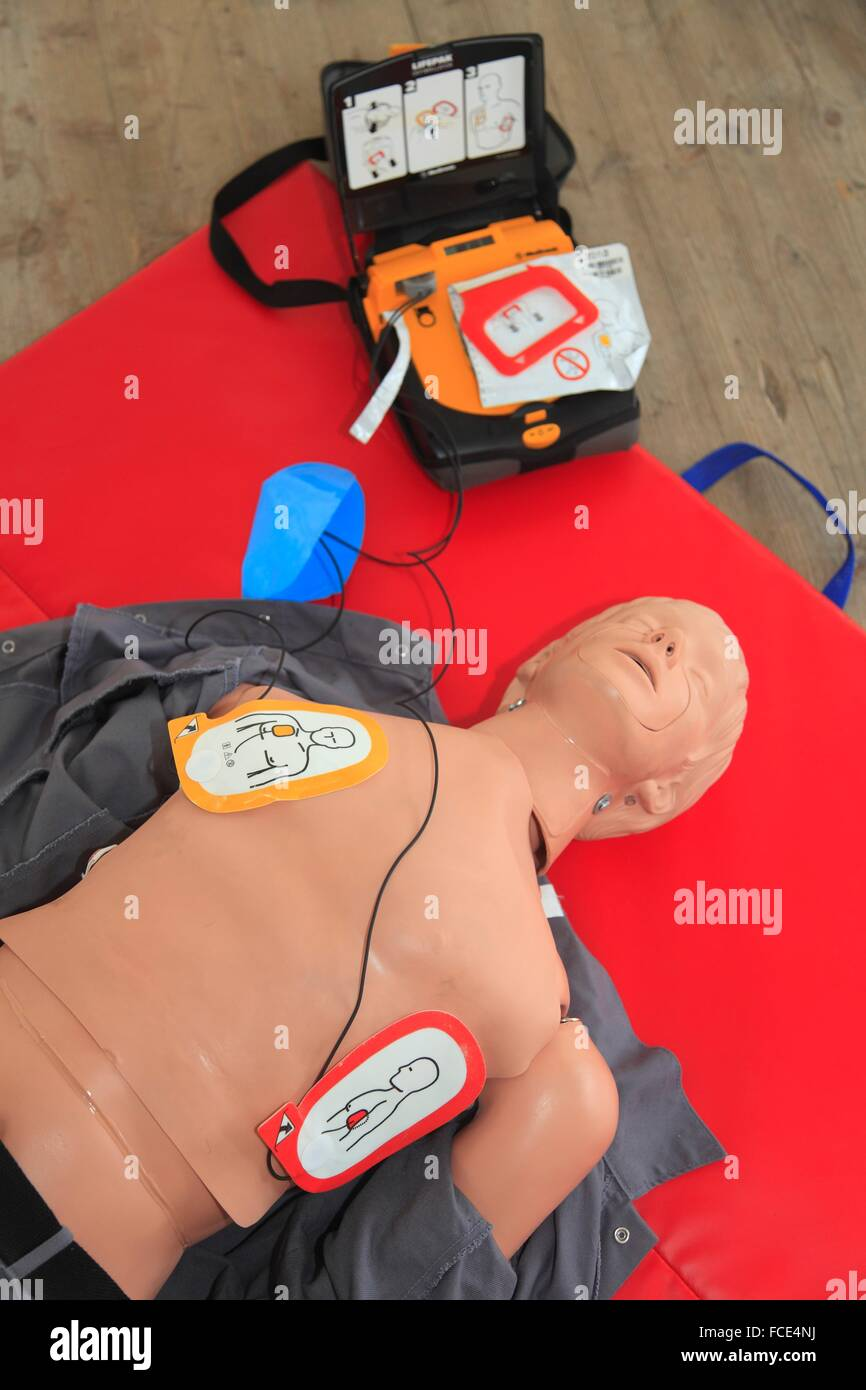 France, first aid - Stock Image