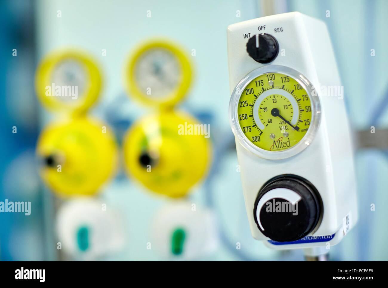 Intensive Care Unit ICU, Hospital Donostia, San Sebastian, Gipuzkoa, Basque Country, Spain - Stock Image