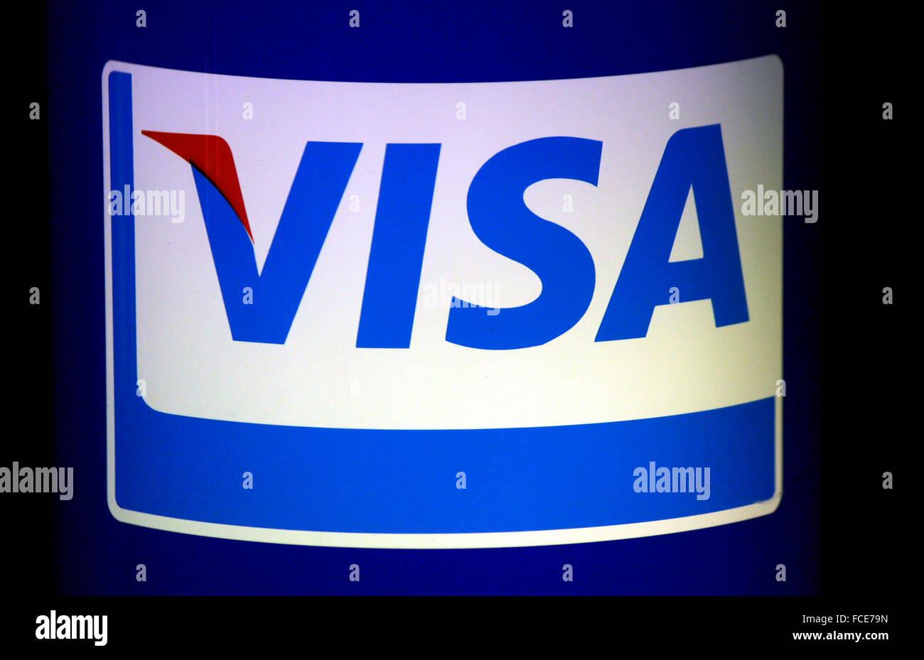Markenname: 'Visa', Berlin. - Stock Image