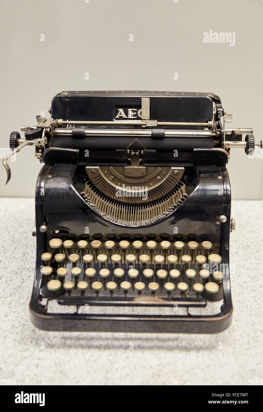 Typewriter AEG, Deutsches Historisches Museum, Berlin, Germany - Stock Image