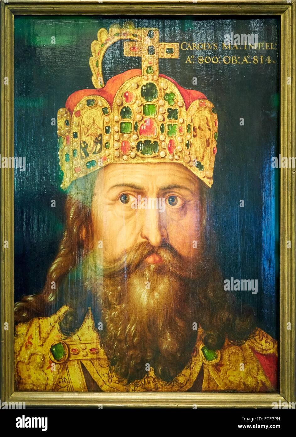Portrait of Charlemagne, Deutsches Historisches Museum, Berlin, Germany - Stock Image