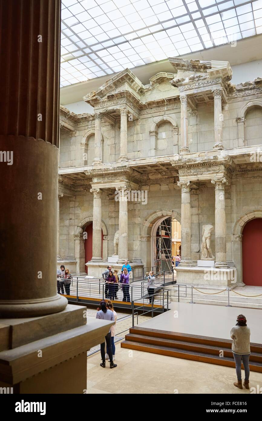 Reconstruction of The Market Gate of Miletus, Pergamon Museum, Berlin, Germany. - Stock Image