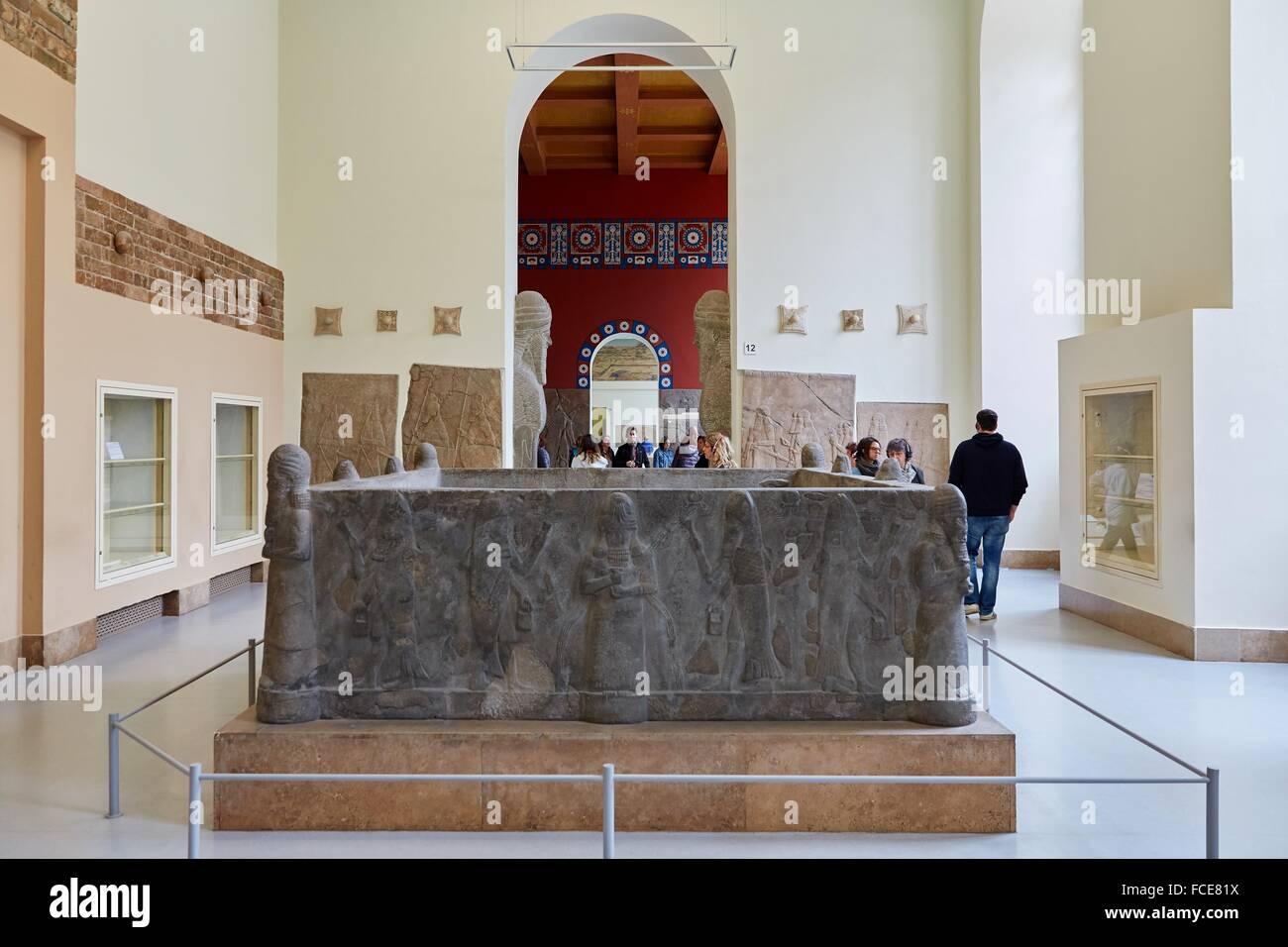 Reconstruction of Assyrian Palace, Pergamon Museum, Berlin, Germany. - Stock Image
