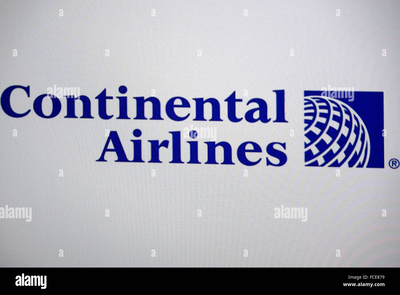 Markenname: 'Continental Airlines', Berlin. - Stock Image
