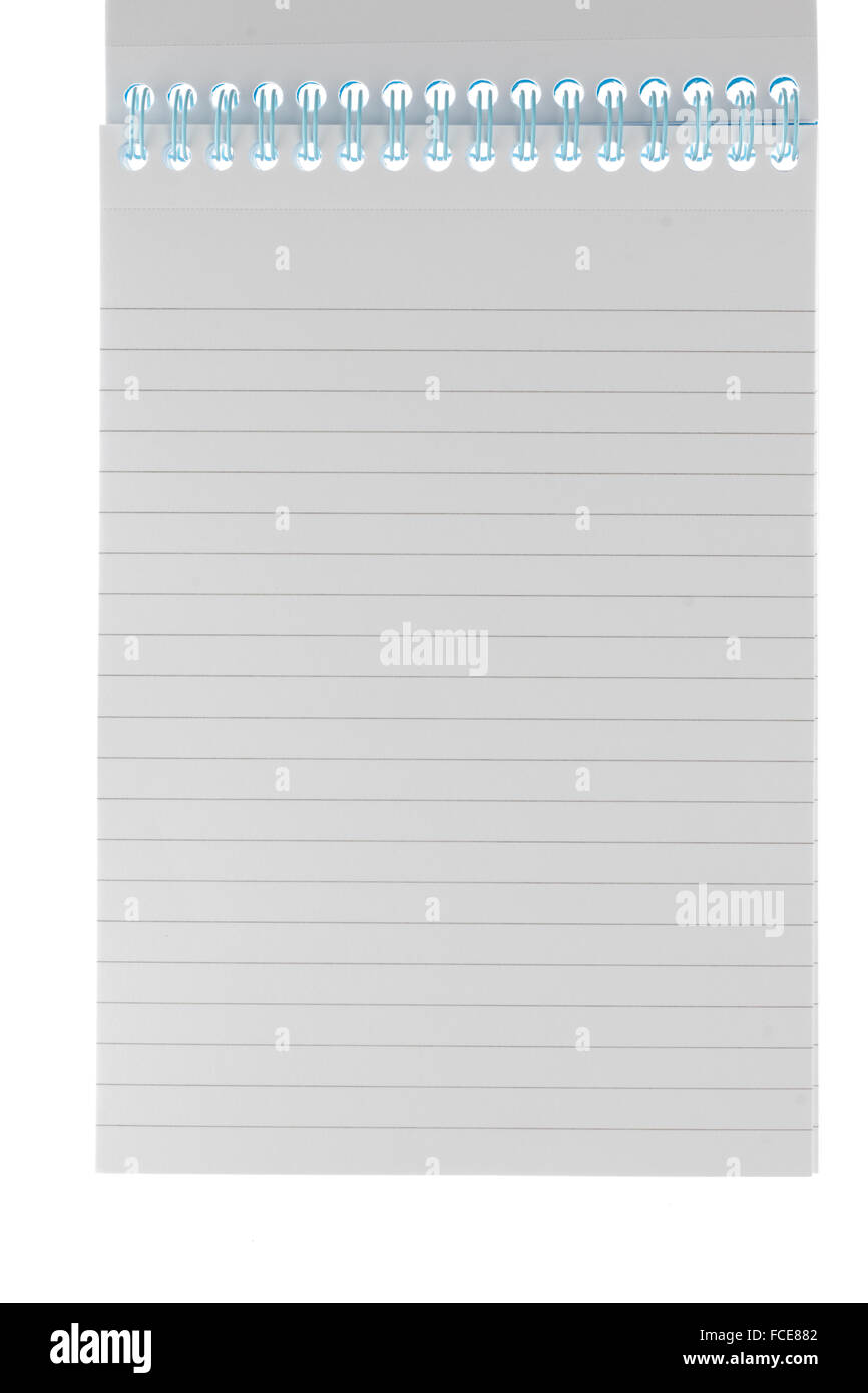 Lined ringbound notepad - Stock Image
