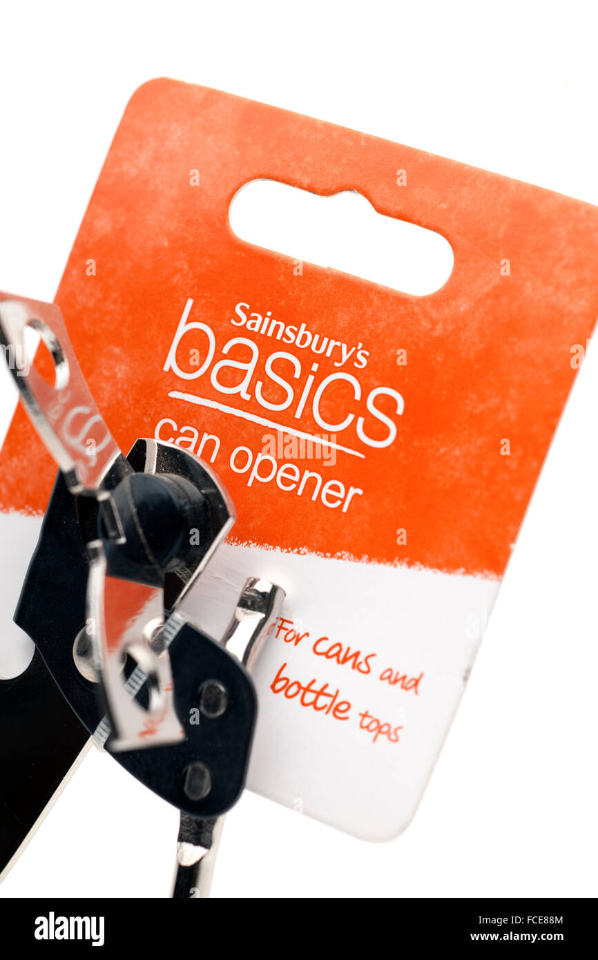 Sainsburys basics can opener - Stock Image