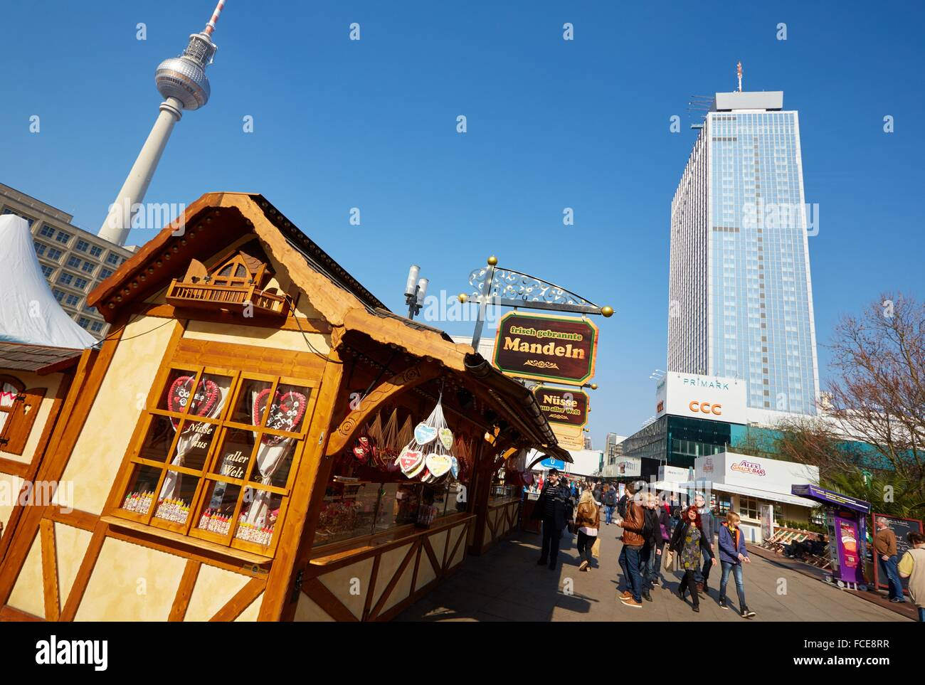 Television tower, Alexanderplatz, Berlin, Germany. - Stock Image