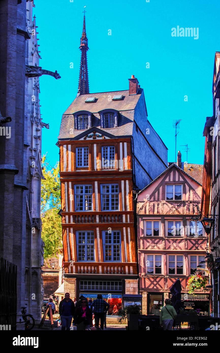 France-Normandy-Seine Maritime- by Saint Maclou church at Rouen. - Stock Image
