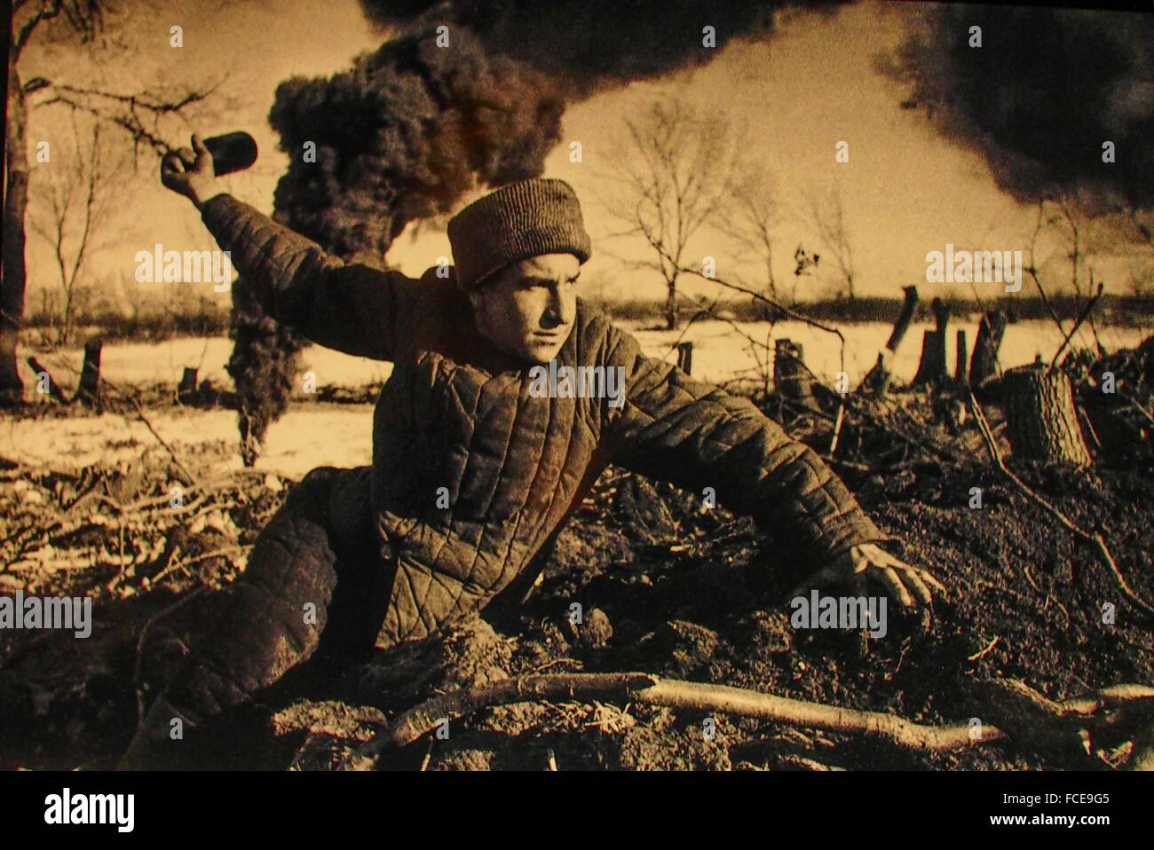 World War II- Red army soldier during the Battle of Stalingrad. - Stock Image