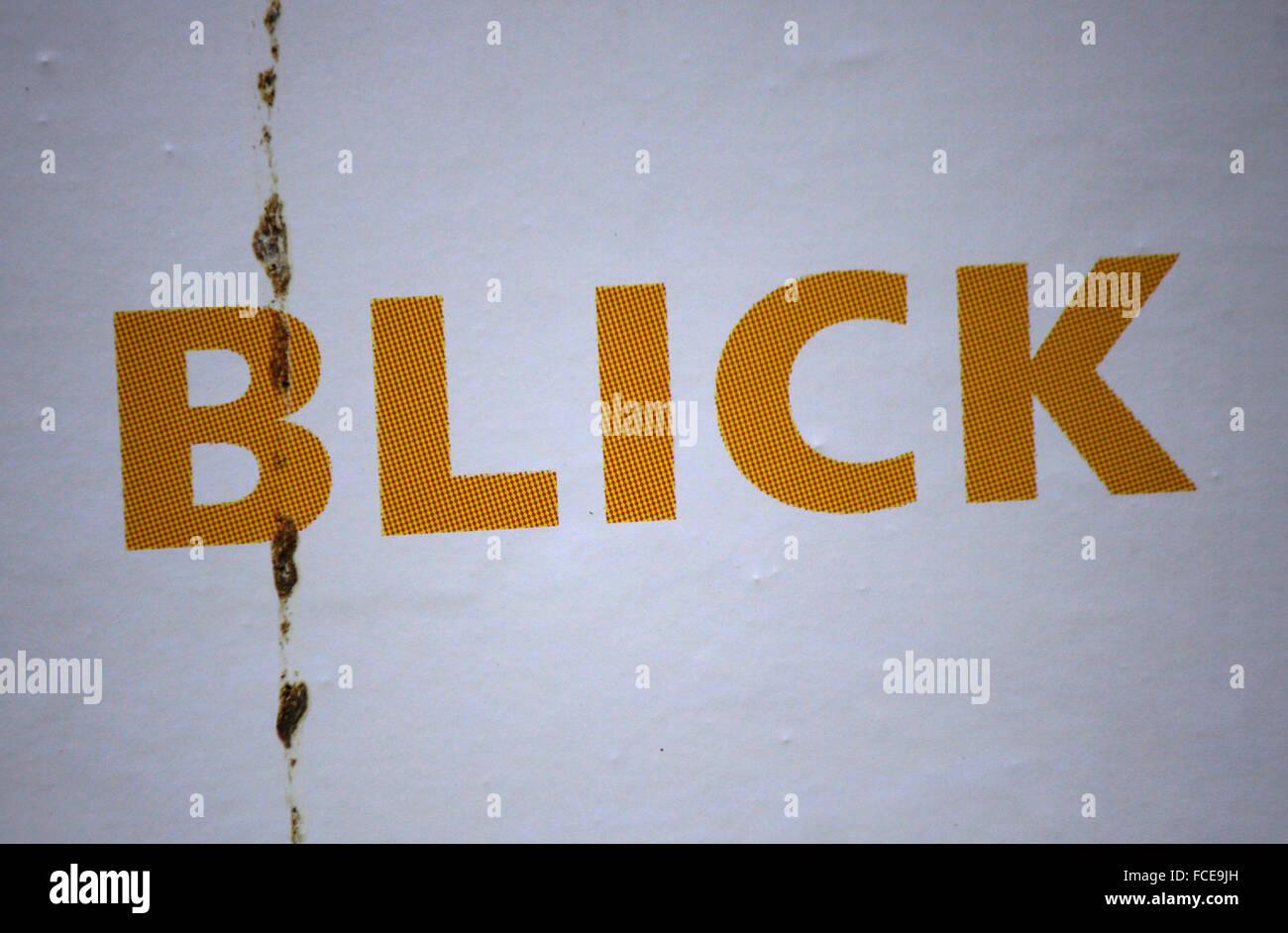 Markenname: 'Blick', Berlin. - Stock Image