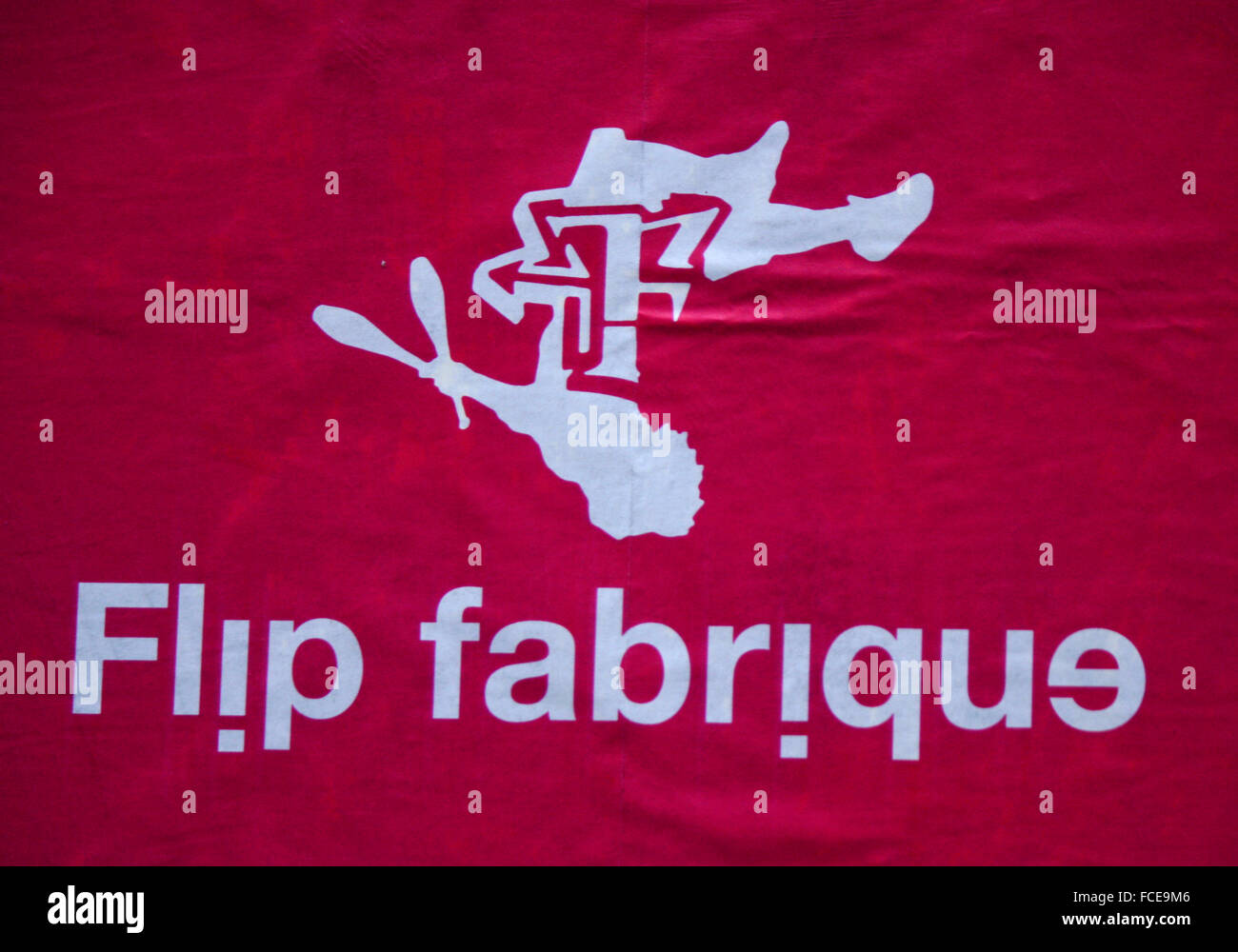 Markenname: 'Flip Fabrique', Berlin. - Stock Image