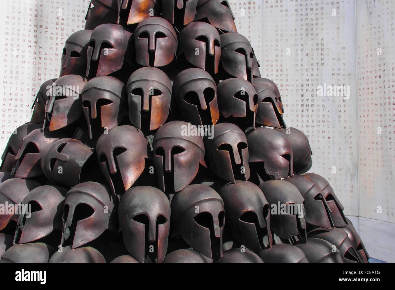 Belgium-Liege- 'Monument Interalliés' ( for 2d. World war) , the Greek part. - Stock Image