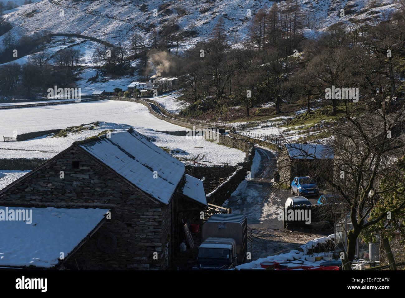 Winter in Tilberthwaite Stock Photo
