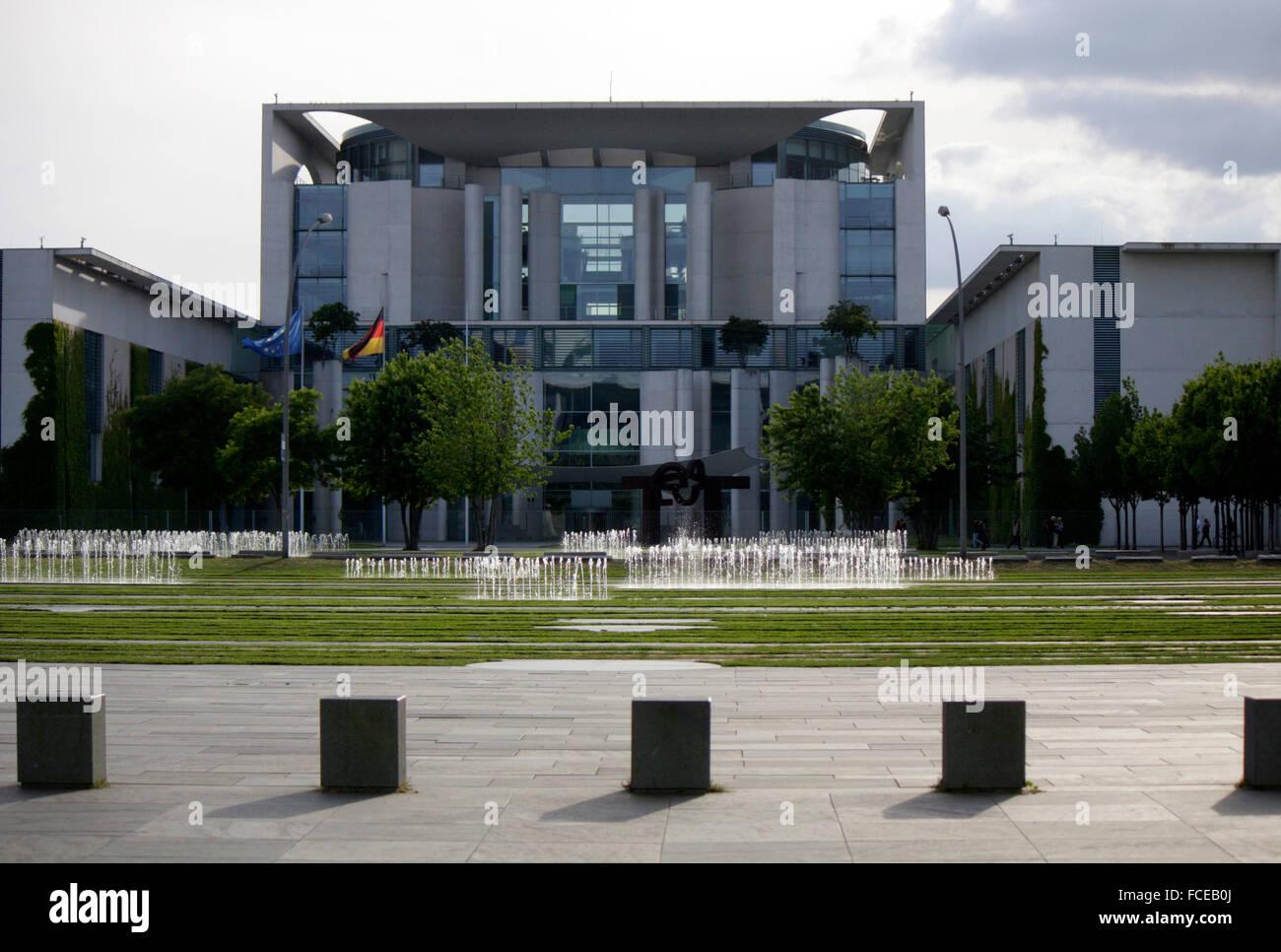 Bundeskanzleramt, Juni 2014, Berlin. - Stock Image