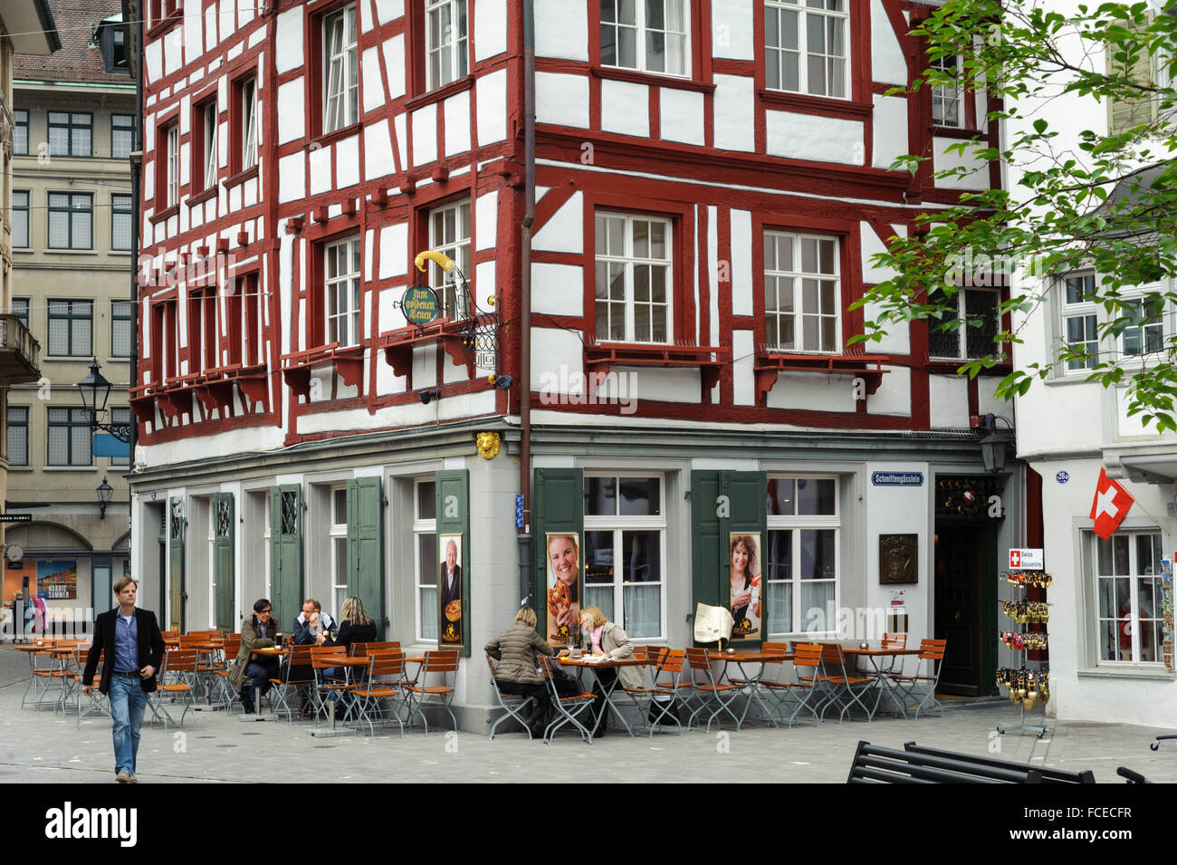 altstadt st gallen kanton st gallen schweiz old town of st stock photo 93744891 alamy. Black Bedroom Furniture Sets. Home Design Ideas