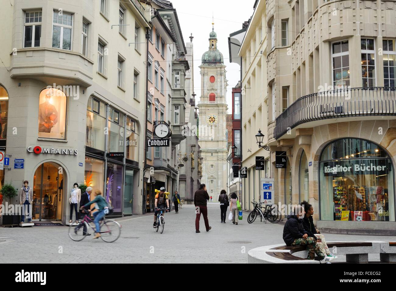 kathedrale altstadt st gallen kanton st gallen schweiz stock photo 93744898 alamy. Black Bedroom Furniture Sets. Home Design Ideas